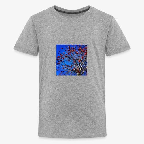 Red Flowers and Blue Sky - Maglietta Premium per ragazzi