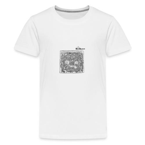 Transparent Beastie - Teenage Premium T-Shirt