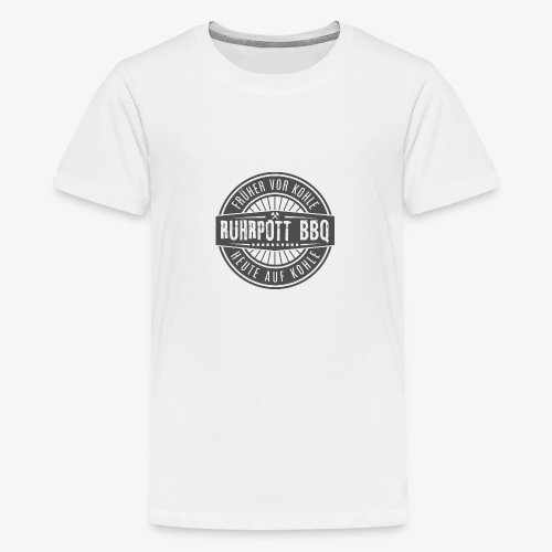 logo2017 transparent tesrtgray 4 - Teenager Premium T-Shirt