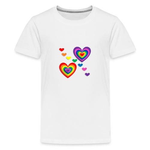 Flower Power Love - Teenager Premium T-Shirt