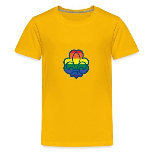 Regnbuespejder hvide t-shirts - Teenager premium T-shirt