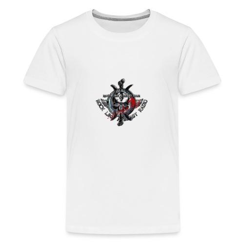 Blood Skull Logo - Premium-T-shirt tonåring