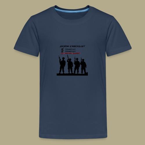 Skirm Checklist - Teenager Premium T-shirt