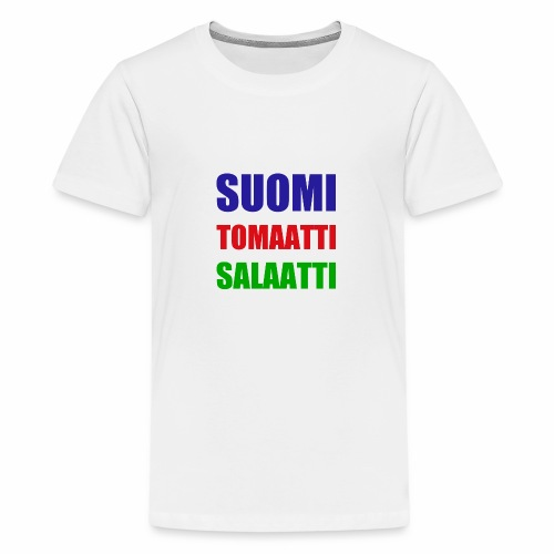SUOMI SALAATTI tomater - Premium T-skjorte for tenåringer
