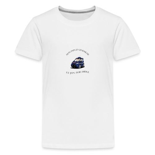 mon papa gendarme - T-shirt Premium Ado