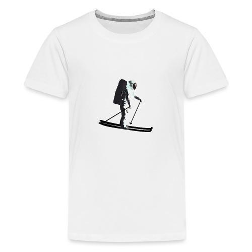 Moonlight Skiing - Teenage Premium T-Shirt
