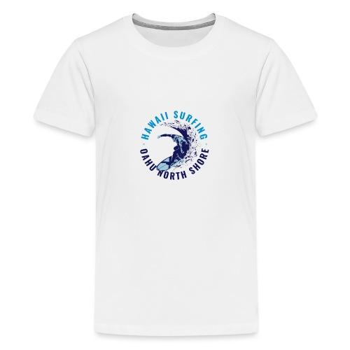 OAHU NORTH SHORE SURFING 2 - Maglietta Premium per ragazzi