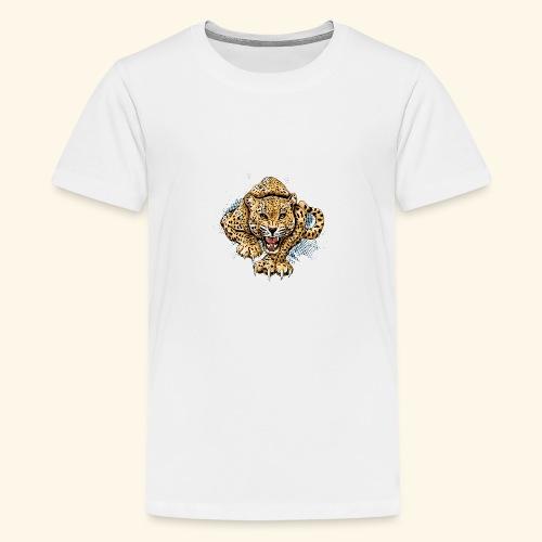 Leopardo KutuXa - Camiseta premium adolescente