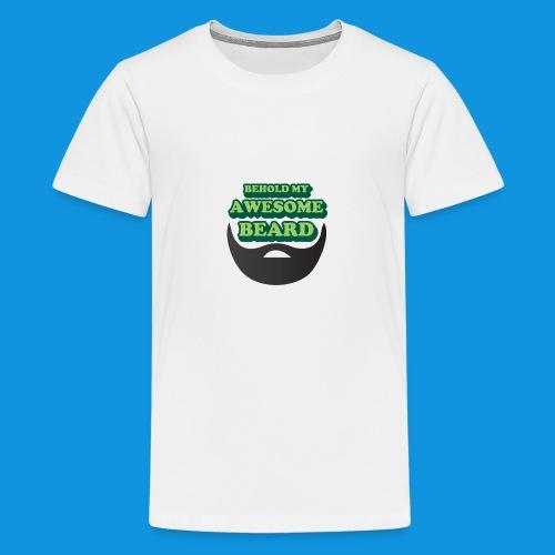 Awesome Beard - Teenage Premium T-Shirt