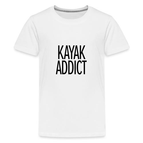 Kayak addict sweat-shirt Contraste - T-shirt Premium Ado