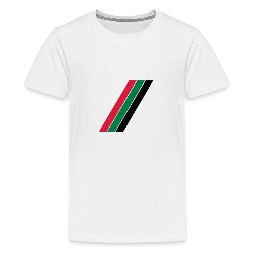 Rood groen zwarte banen - Teenager Premium T-shirt