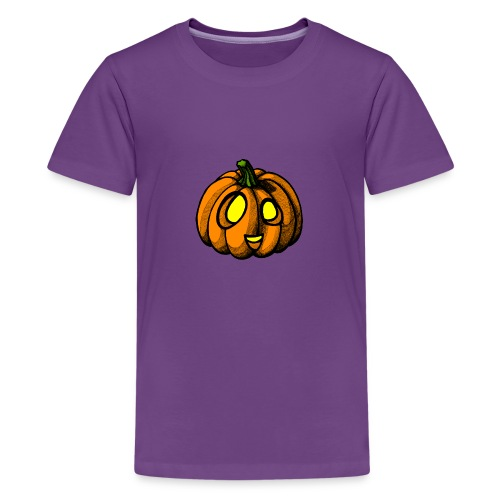 Pumpkin Halloween scribblesirii - Teenager premium T-shirt