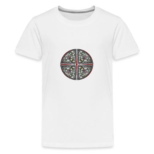 Archangel Michael Disc - Teenage Premium T-Shirt