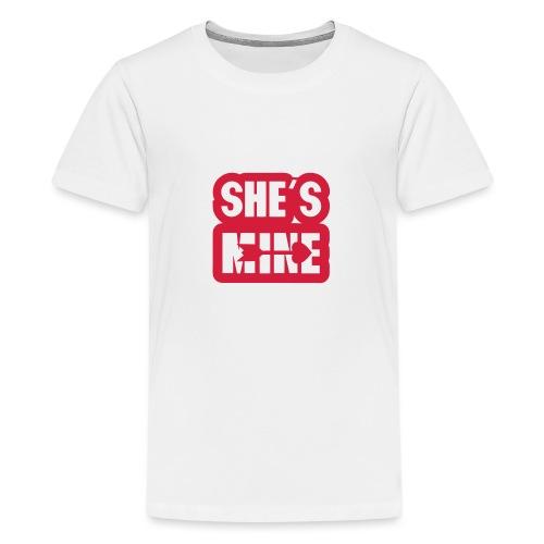 she s mine fleche coeur saint valentin - T-shirt Premium Ado