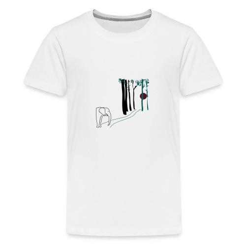 Elefant som går mot solen - Premium-T-shirt tonåring
