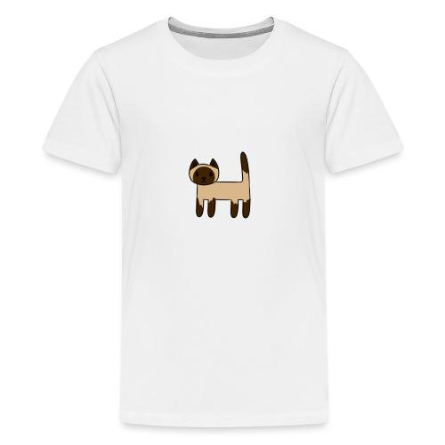 Siamese Cat - Teenage Premium T-Shirt