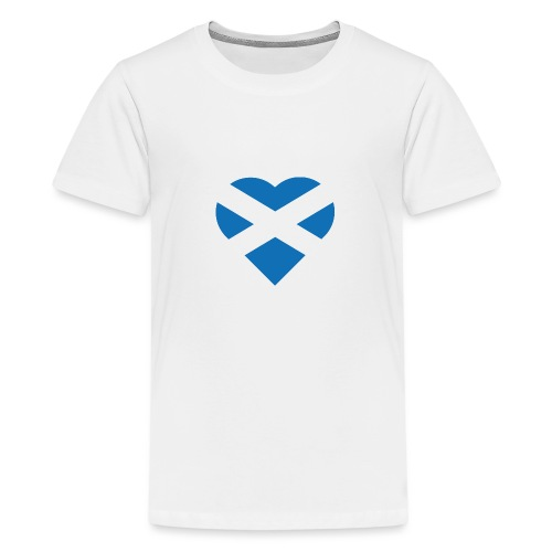 Flag of Scotland - The Saltire - heart shape - Teenage Premium T-Shirt