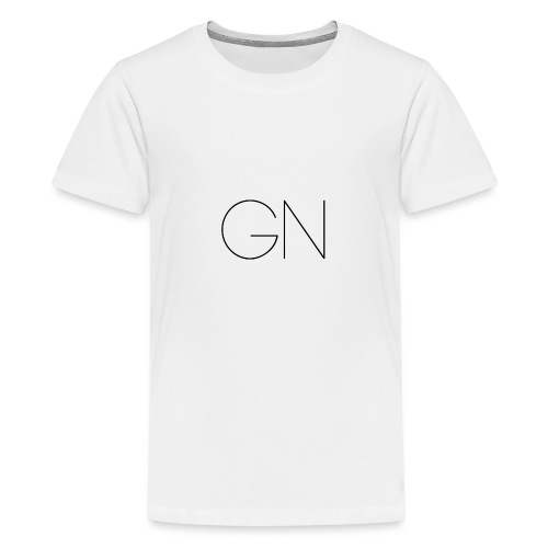 Långärmad tröja GN slim text - Premium-T-shirt tonåring