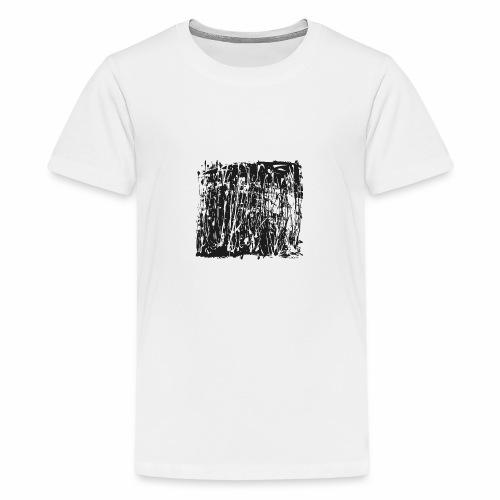 paintBlobBlack2 - Teenage Premium T-Shirt