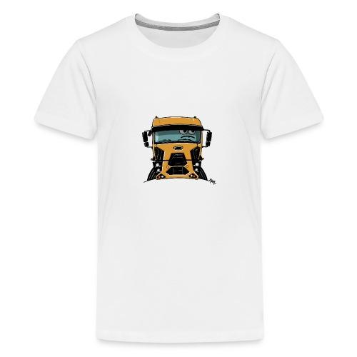 0812 F truck geel - Teenager Premium T-shirt