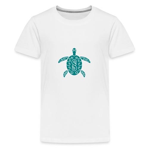 Schildkröte mit Muster 1 - Teenager Premium T-Shirt