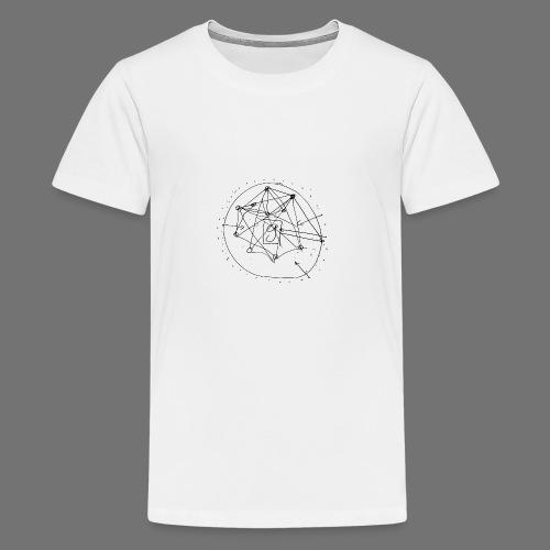 SEO-strategi No.1 (sort) - Teenager premium T-shirt