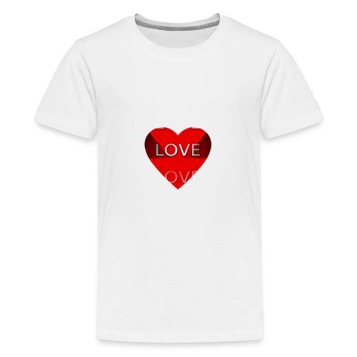 Love Pliz Corazón TM - Camiseta premium adolescente