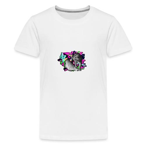 Leopard auf Bunt - Teenager Premium T-Shirt