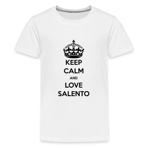 KEEP CALM LOVE SALENTO - Maglietta Premium per ragazzi