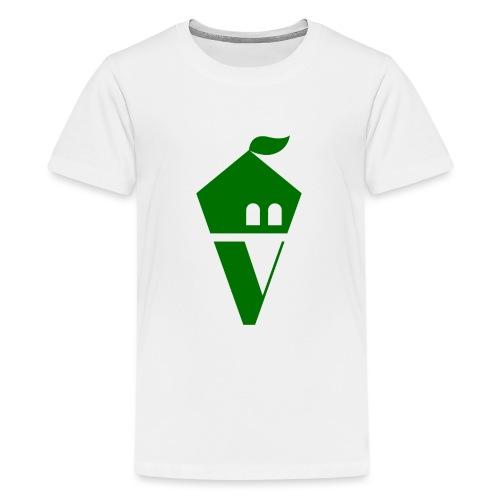 Villekula Logo in Grün auf Schwarz - Teenager Premium T-Shirt