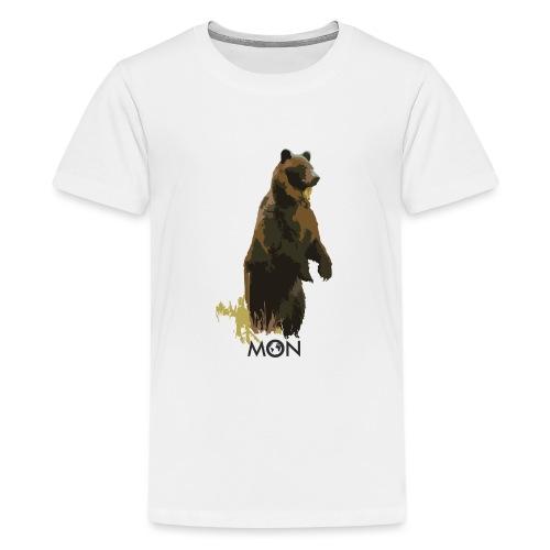 OSO PARDO - Camiseta premium adolescente