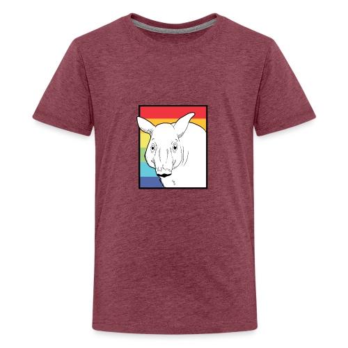 Tapir mit Regenbogen Farben - Teenager Premium T-Shirt