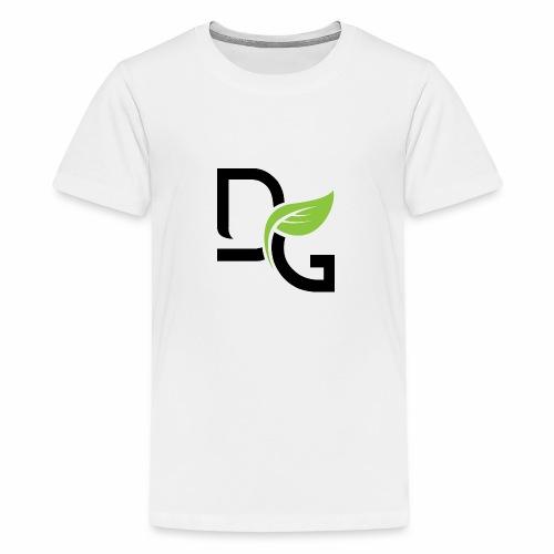 DrGreen Logo Symbol schwarz grün - Teenager Premium T-Shirt