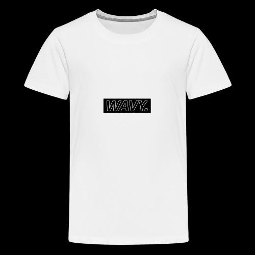 BLACK WAVY. RECTANGLE - T-shirt Premium Ado
