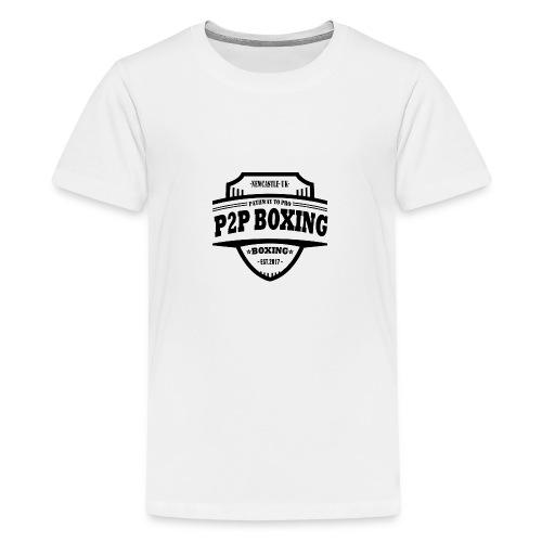 P2P Boxing Black Logo - Teenage Premium T-Shirt