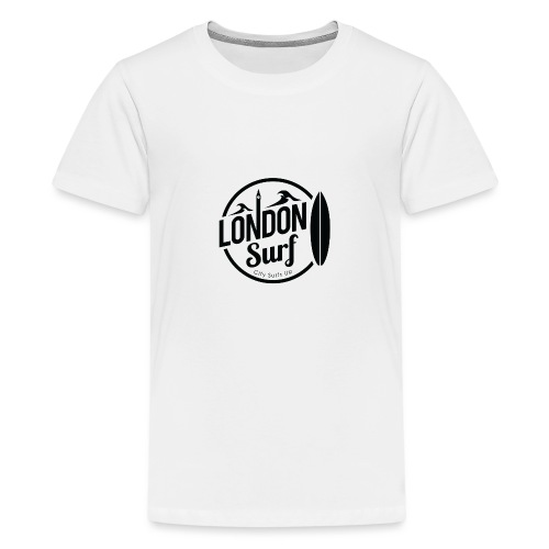 London Surf - Black - Teenage Premium T-Shirt