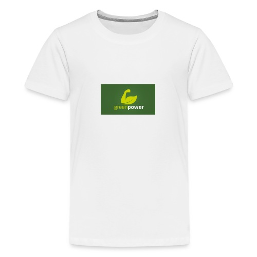 Green Power fitness logo - Teenage Premium T-Shirt