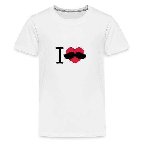 I Love Movember - Teenage Premium T-Shirt