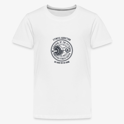 Fitness Addiction - T-shirt Premium Ado