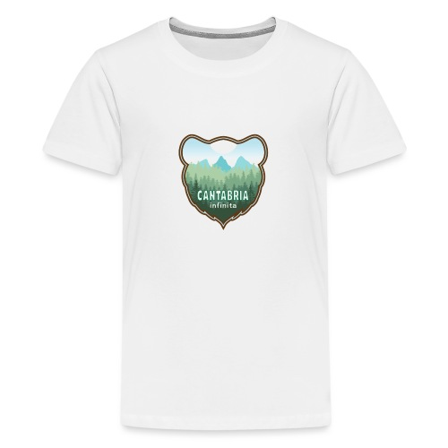 Oso en cantabria infinita - Camiseta premium adolescente