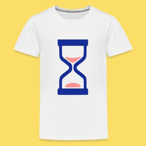 ⏳ ✦°•Hourglass-Sandglass vector design - Teenage Premium T-Shirt