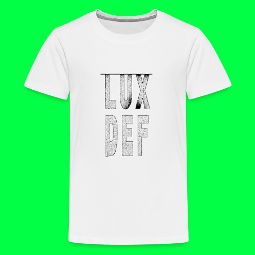 lux def: graphic brand logo design grafikdesign - Teenager Premium T-Shirt