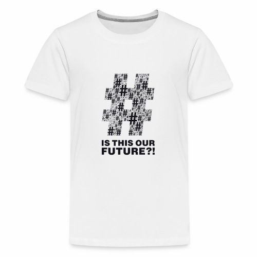 Question or statement?! black by camaleon_design - Teenager Premium T-Shirt