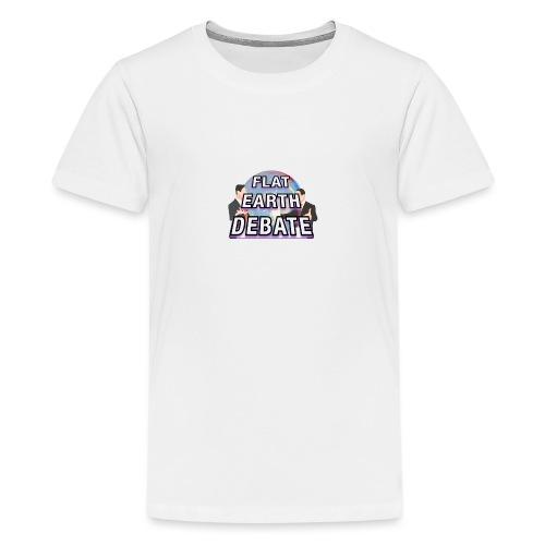 Flat Earth Debate - Teenage Premium T-Shirt