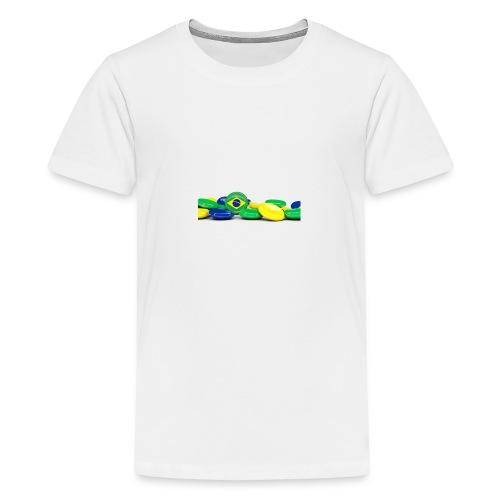 Encontro Bandeira do Brasil - Teenage Premium T-Shirt