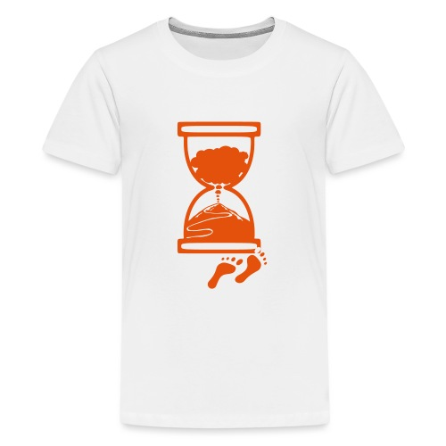 Tracciato logo facciotardi vettoriale con sfondo - Maglietta Premium per ragazzi