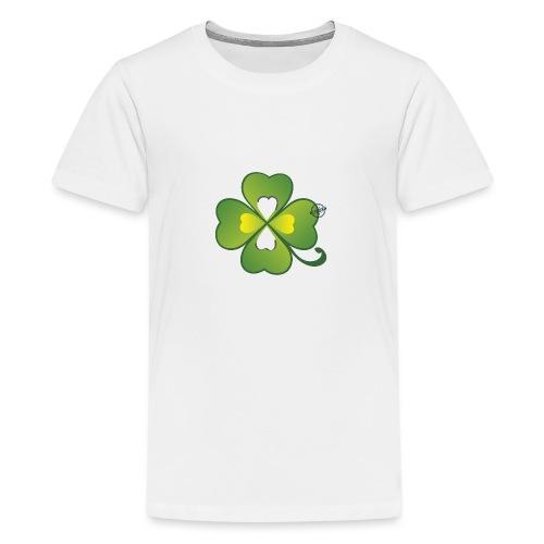 Clover - Symbols of Happiness - Teenage Premium T-Shirt