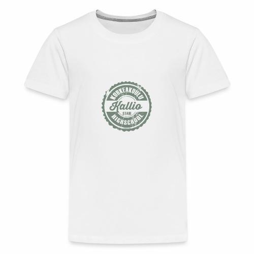 22V-KALLION KORKEAKOULU - Tekstiilit ja lahjat - Teinien premium t-paita