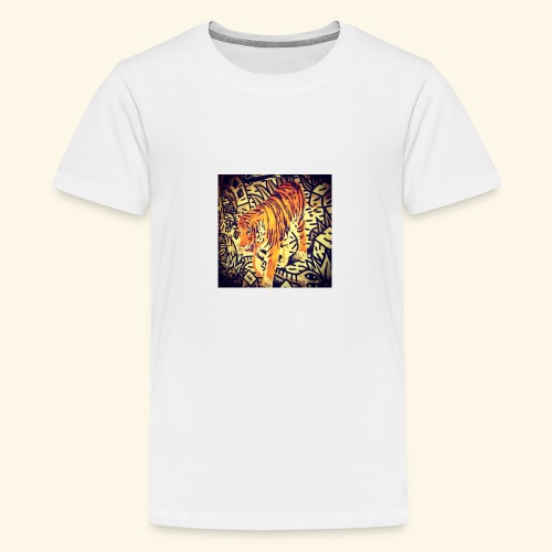 tiger gun 111 - Teenage Premium T-Shirt