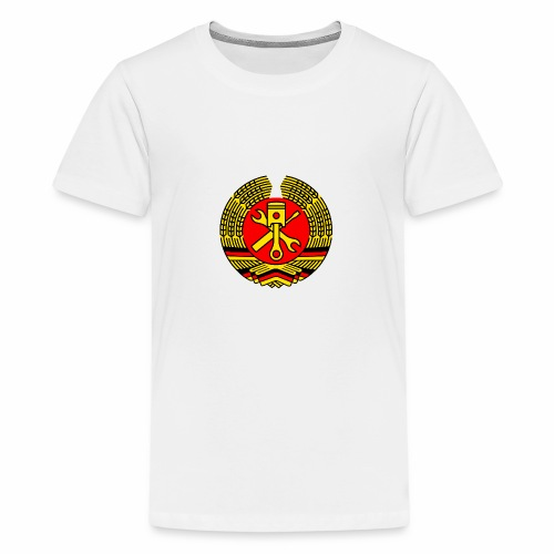 DDR Tuning Coat of Arms 3c (+ Your Text) - Teenage Premium T-Shirt